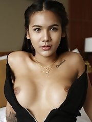 Busty Thai Ladyboy Sucks Off White Tourists Cock