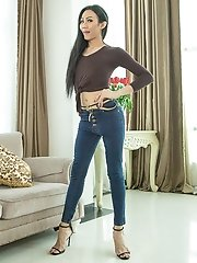 Ladyboy Swan - Tight Jeans Big Cock Bareback